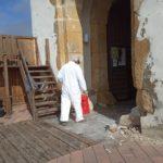Konzervatorsko-restauratorski radovi na ulazu i u veži utvrde Stari grad